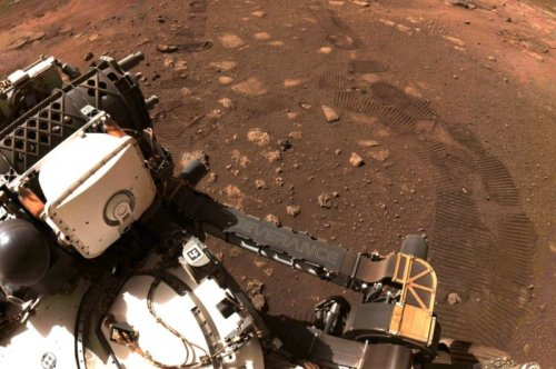 Perseverance takes first drive on Red Planet