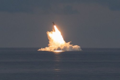 USS Wyoming submarine conducts two-missile Trident II test flight