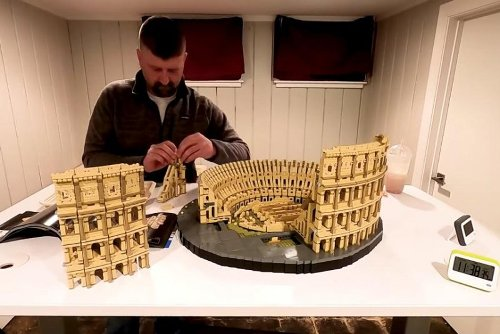 Man sets Guinness record for fastest time to build Lego's largest set