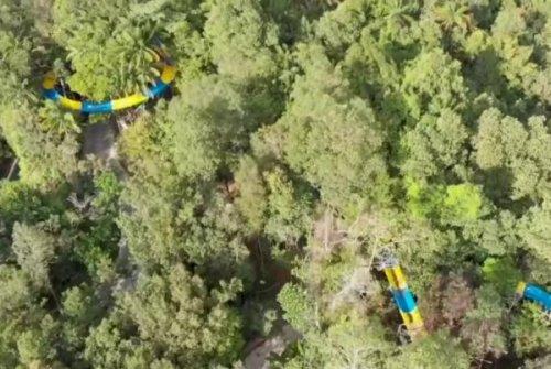 World's longest inner tube water slide measures 3,645 feet long
