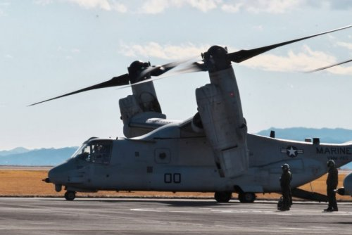 V-22 Osprey conducts first landing on deck of a ship