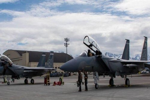 First two F-15EX fighter planes join Alaska training exercise