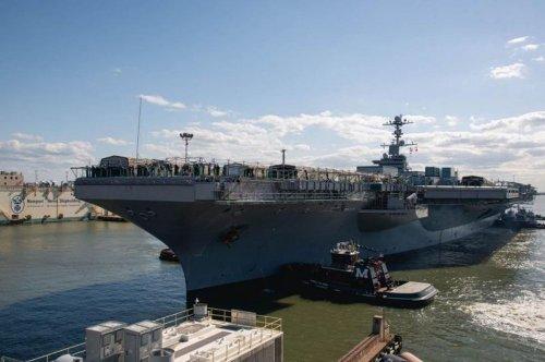 Aircraft carrier USS John C. Stennis arrives in Va. for four-year overhaul