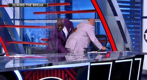 Shaq Punched Out Charles Barkley's Hamstring Cramp On 'Inside The NBA'