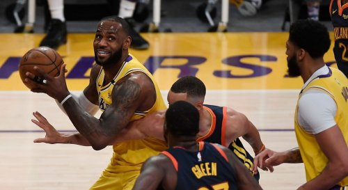 LeBron Hit A Logo Three To Beat The Warriors In A Wild Play-In Game