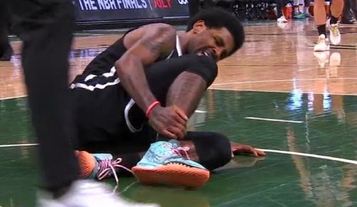 Kyrie Irving Left Game 4 With An Ugly Looking Right Ankle Injury