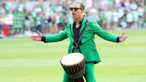 A Bongo-Wearing Matthew McConaughey Fired Up Soccer Fans In Austin