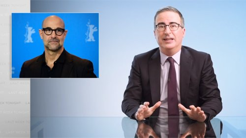 John Oliver On Reparations With Accurate Joke Involving Stanley Tucci