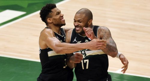 Giannis' Reaction To PJ Tucker Wearing Real Diamond Shoes Is Priceless