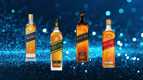 Every Bottle Of The Core Johnnie Walker Scotch Whisky Line, Ranked