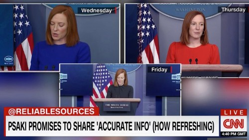 Conservatives Furious With 'How Refreshing' CNN Chryon For Jen Psaki