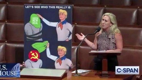 Marjorie Taylor Greene's House-Floor Scooby Doo Meme Backfired On Her