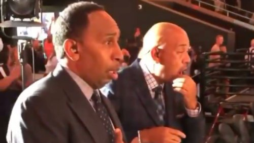 Give An Oscar To This Video Of Stephen A, Wilbon Watching Ayton's Dunk