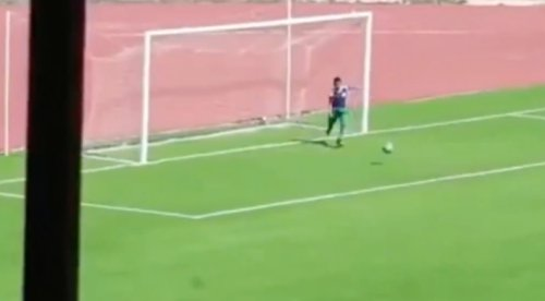 A Ball Boy Ran On The Field To Stop A Goal In An Algerian Soccer Game