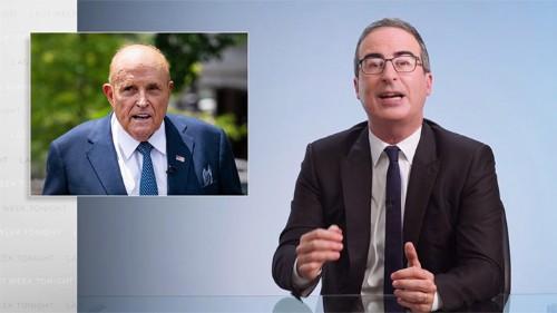 John Oliver Reacted Accordingly To Rudy Giuliani's 'Borat 2' Fiasco