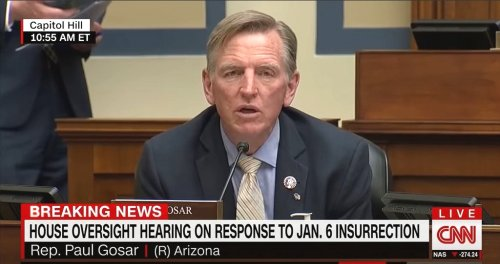 Paul Gosar Demands The Name Of Cop Who 'Executed' An Insurrectionist