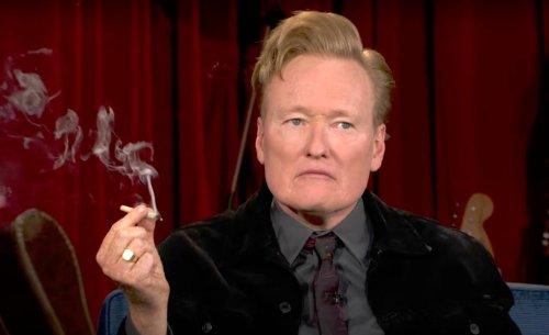 Conan Was Delightfully Awkward Smoking Weed With Seth Rogen On 'Conan'
