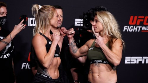Photos: UFC Fight Night 192 official weigh-ins and faceoffs