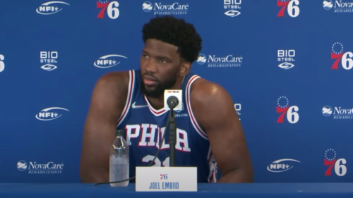 Joel Embiid made it clear that he's seen those Ben Simmons offseason workout videos