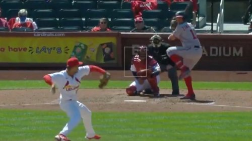 Cardinals pitcher Jordan Hicks unleashed a completely unfair 100 mph sinker