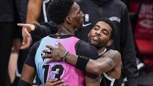 Kyrie Irving, Bam Adebayo were separated for trying to trade jerseys in a bizarre moment