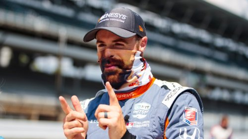 IndyCar driver James Hinchcliffe celebrates return to Andretti Autosport with perfect 'Friends' joke