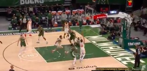 NBA fans were rightfully in awe of Trae Young's lob off the glass to John Collins