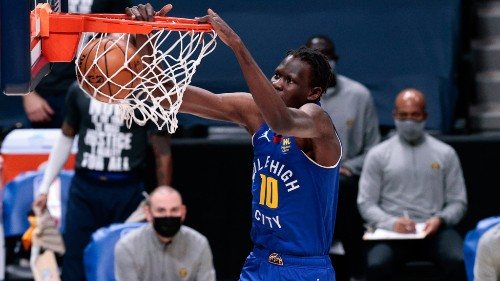 Nuggets' Michael Porter Jr. captured an insane dunk by Bol Bol on video