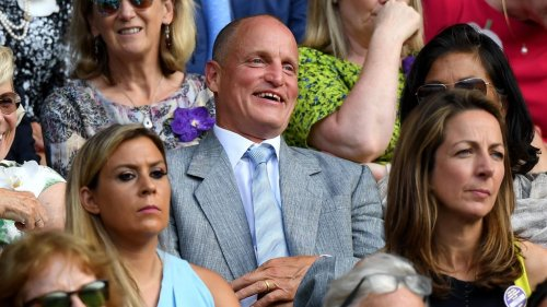 Tennis fans couldn't get enough of Woody Harrelson watching Wimbledon