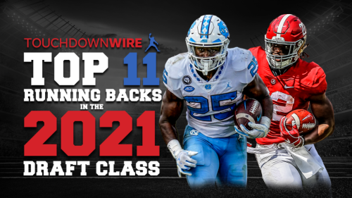 The top 11 running backs in the 2021 draft class