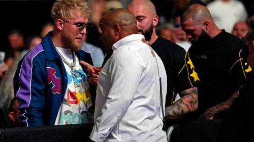 Daniel Cormier had to be separated from Jake Paul at UFC 261