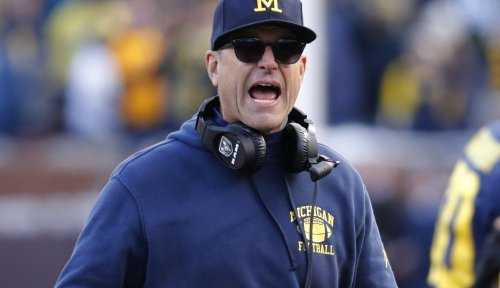 Michigan holds Big Ten protest, Jim Harbaugh says he 'wants to play as soon as possible'