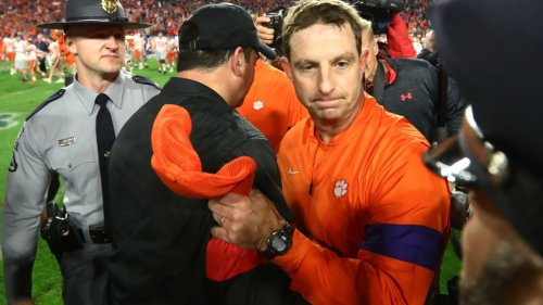 Clemson head coach Dabo Swinney doesn't believe Ohio State belongs in College Football Playoff with just six games played