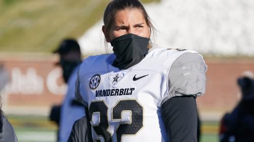 Watch Sarah Fuller kick off for Vanderbilt and make college football history