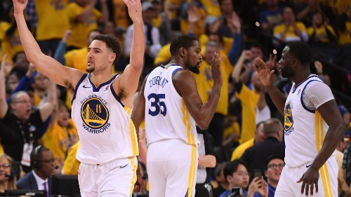 Klay Thompson put Anthony Davis on skates and sent the Warriors bench into a frenzy
