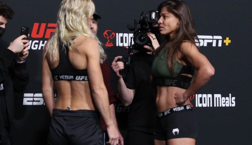 Photos: UFC Fight Night 195 official weigh-ins and faceoffs