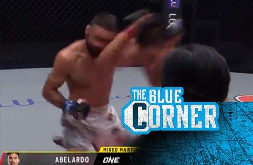 Mark Abelardo's insane standing elbow obliterates opponent for KO at ONE Championship 130