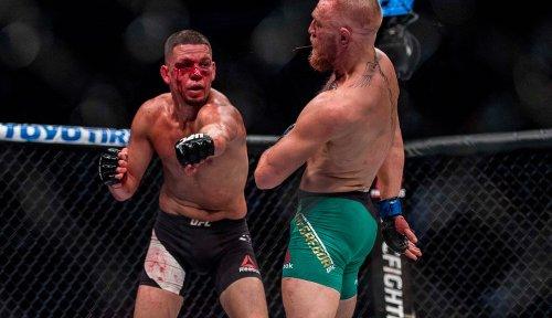 Nate Diaz mocks 'lil b*tch' Conor McGregor after he pushed for another custom UFC belt