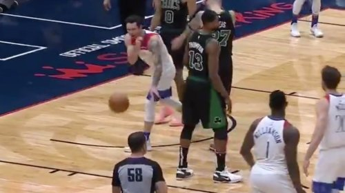 J.J. Redick got ejected because a ref absurdly didn't like how he rolled the ball to him