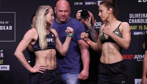 Photos: UFC 262 ceremonial weigh-ins and faceoffs