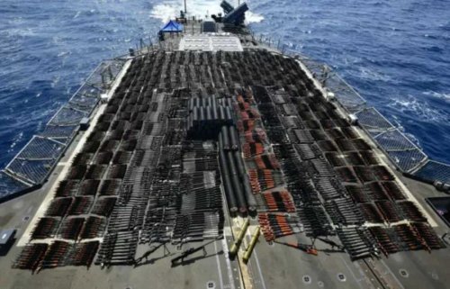 The Americans detained a ship with tons of Russian weapons