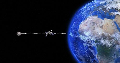 Des chercheurs veulent relier la Terre à la Lune par un câble