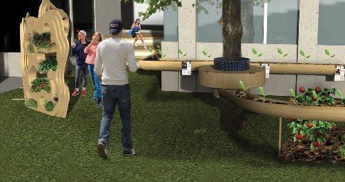 Un jardin partagé en cité U : cultiver des fruits et l'art de la fête