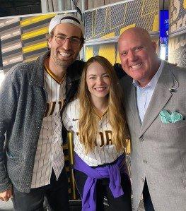 Emma Stone, Husband Dave McCary Enjoy Rare Date Night at Padres Game: Pics