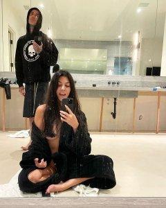 Kourtney Kardashian Goes Nearly Nude During Quarantine With Travis Barker