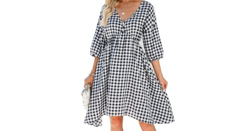 Get Ready for Fall Fashion With This Transitional Gingham Midi Dress — Only $30