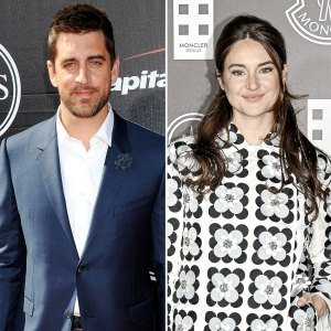 Aaron Rodgers and Shailene Woodley Cuddle Their Pooch During Beach Date
