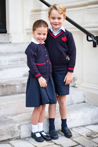 Prince George and Princess Charlotte Cheer on Half-Marathon Runners