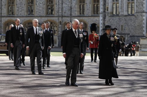 Harry and William Reunite, Walk Behind Prince Philip's Casket at Funeral