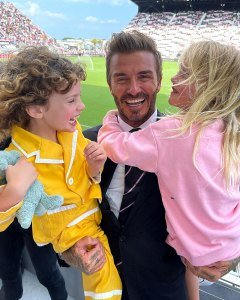 See Liv Tyler's Kids Hugging Their 'Sweet Godfather' David Beckham